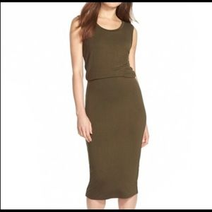 Leith Olive Green Bodycon Dress